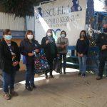 Junta de Vecinos Cerro La Virgen dona mascarillas a Escuela Poeta Pablo Neruda