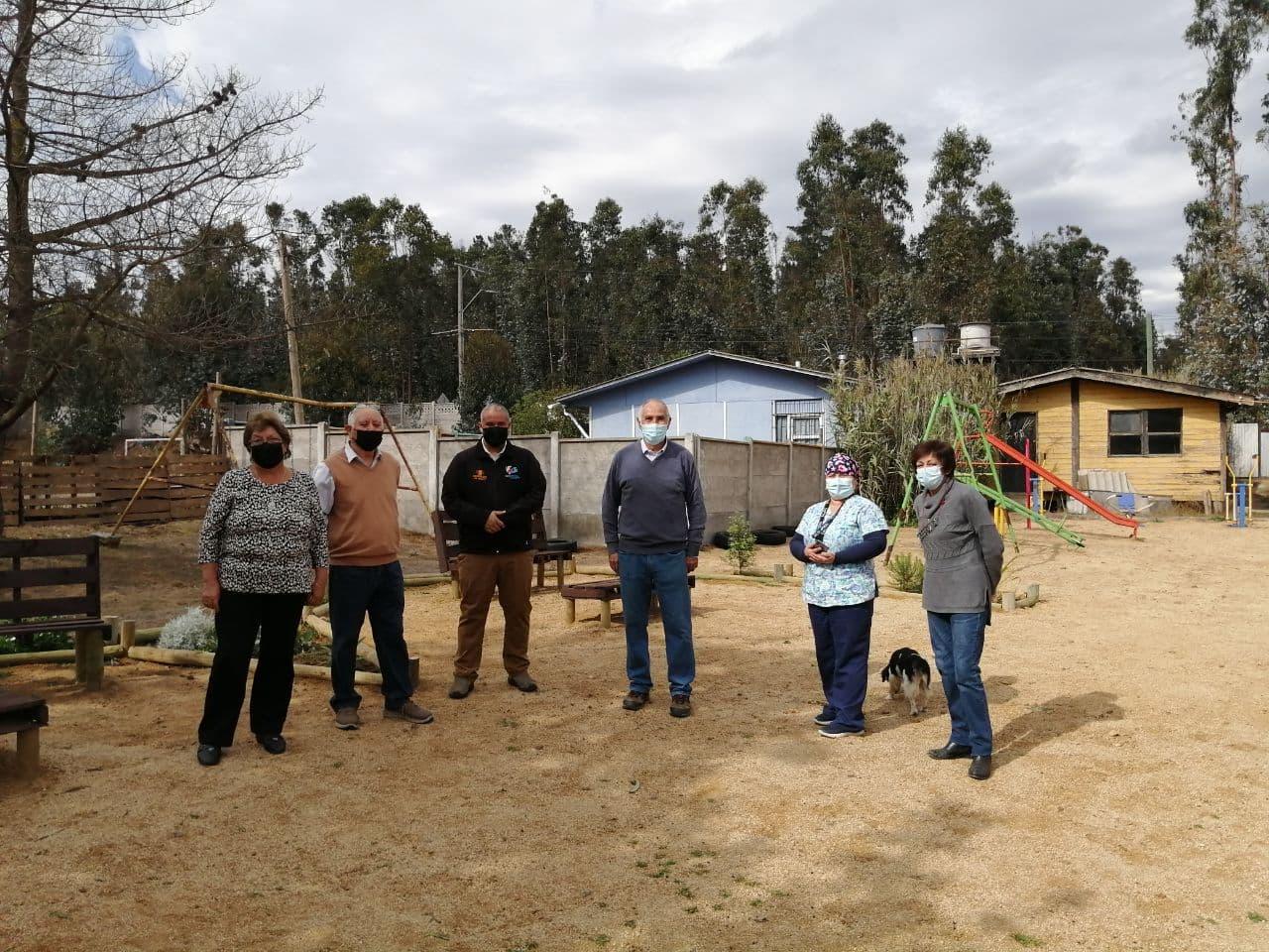 Junta de Vecinos San Juan El Tranque cuenta con flamante área verde comunitaria