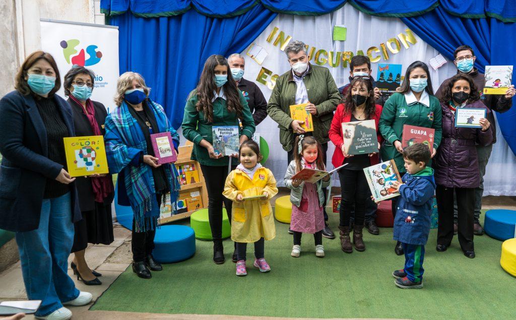 Fundación San Antonio Siglo XXI y Codelco El Teniente inauguraron espacio lector en jardín infantil Duendecitos de Lo Gallardo